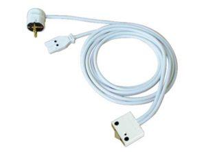 Cable de alimentación con pulsador universal,SV16, Con conector insertable y conector Schuko Longitud: 2000 mm, Color: Blanco