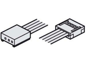 Cable de alimentación con unión clip,Para banda LED Loox RGB de 12 V (clip de 17 mm) Para la conexión en un mezclador de colores primarios –, longitud: 2000 mm