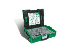 Cajas de montaje L-BOXX, Kit de tornillos con 16 dimensiones, Cabeza plana, T-STAR plus, 4CUT, WIROX - 5000009161019