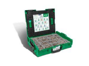Cajas de montaje L-BOXX, Kit de tornillos con 17 dimensiones, Cabeza plana, T-STAR plus, 4CUT, Acero inoxidable A2 - 5000009165019