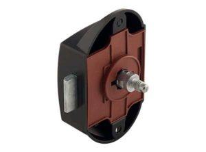 Cerradura de varilla giratoria,Push-Lock, Entrada 25 mm, Uso por un lado Negro