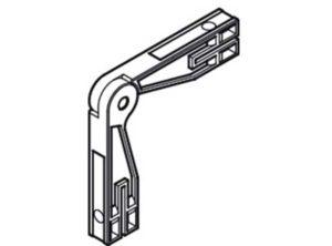 Escuadra,Para la unión de los perfiles para marco lateral Plástico