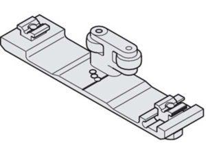 Perfil de unión Connector,Para 2 puertas correderas giratorias Longitud: 26 mm