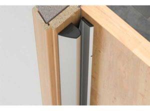 Perfil para montaje bajo estantes de diseño,Altura total: 9 mm, Altura de perfil 8 mm