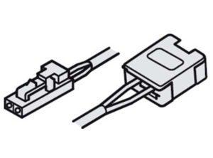 cable de alimentación, Con sistema insertable 12 V y clip Para banda de silicona LED Loox de 8 mm 12 V Longitud 2000 mm