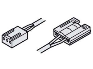 cable de alimentación,Con clip, Para banda de silicona LED Loox 10 mm multi-blanco 24 V Longitud: 2000 mm