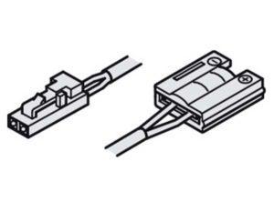 cable de alimentación,Con sistema insertable 12 V y clip, Para banda de silicona LED Loox de 8 mm 12 V Longitud: 2000 mm
