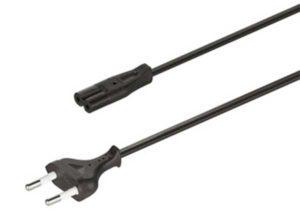 Plástico Longitud 2000 Color negro Modelo Conector hembra C7 en el cable Tensión 250