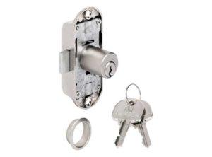 cerradura de varilla giratoria,Häfele Piccolo-Nova, Con cilindro de pitones, Instalación de cierre con llave maestra LLM/LLMG específica para el cliente