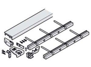perfil del suelo,Para posición de puerta con superficie enrasada en puertas desde la base hasta el techo